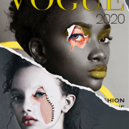 face doubleface vogue tornpaper carta ectornpapereffect freetoedit