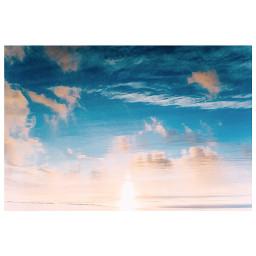 freetoedit sea seacoast sky sunrise blue