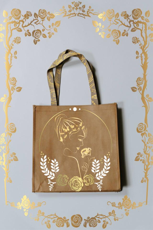 #gold #bag #oro #borsa #rose #freetoedit #ircdesignthebag #designthebag