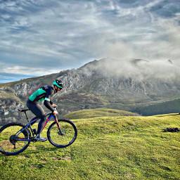 mtb bike cycling mountains freetoedit