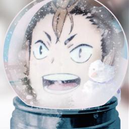 anime manga haikyuu nishinoya nishinoyahaikyuu haikyuunishinoya freetoedit rcsnowglobe snowglobe