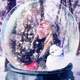snow snowglobe snowman person challenge challengeaccepted sticker stickers stickerremix freetoedit rcsnowglobe