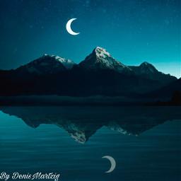 picsart lightroom picoftheday photography mountains moon reflexiones light instagram beautiful freetoedit