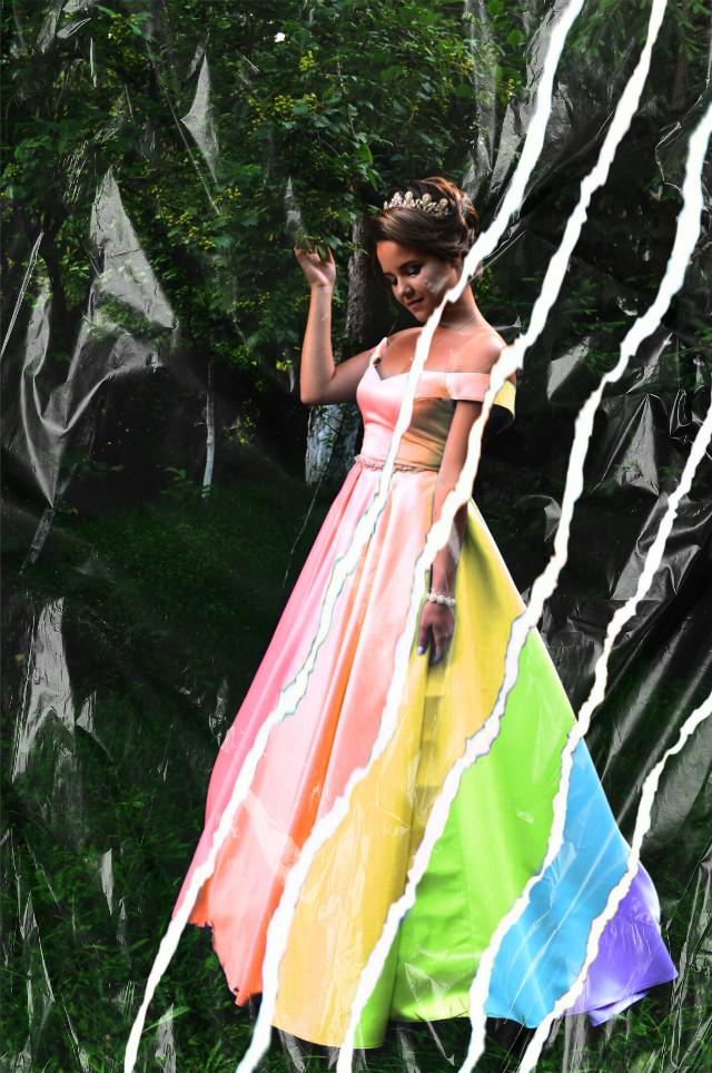 #dress #rainbow #arcobaleno🌈 #arcobaleno #vestito #strappo #paper #freetoedit #ectornpapereffect #tornpapereffect
