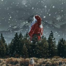 freetoedit edit madewithpicsart picsart heypicsart makeawesome christmas santaclaus december forest landscape snow visualart art creative