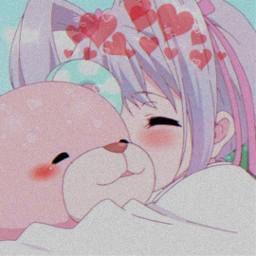 freetoedit japan night nature anime kawaii cute sweet girl teddybear crown heart red blueaesthetic blush aesthetic profilepic animeaesthetic animeicon purpleaesthetic