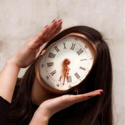 picsart madewithpicsart clocks girl surreal freetoedit like love surreality face girlpower