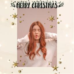 merrychristmas christmas xmas girl freetoedit