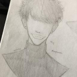 anime drawing doodle art traditionalart animeart sketch myoc originalcharacter originalart yami