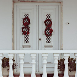 freetoedit urbanexploration house frontwall porch balusters porchbalusters door frontdoor christmasspirit ornaments christmaswreaths christmasdecorations urbanexploringphotography