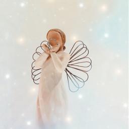 freetoedit christmasspirit thelightwithin angel angelofchristmas symbology peaceloveandhappiness lightofhope ornament christmasdecorations seasonofloveeveryday lightaesthetic myphotomyedit