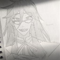 anime drawing doodle art traditionalart animeart sketch grell grellesutcliffe grellsutcliff grellsutcliffe blackbutler grellissoprettyicant