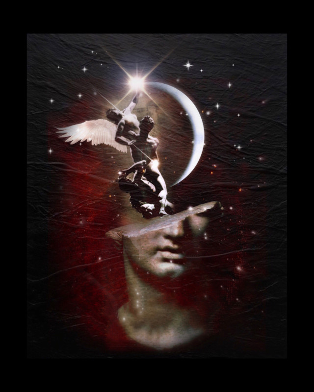 Greatness requires sacrifice.    #heypicsart #art #surreal #angel #stars #northstar #moon #statue #blackbackground #texture #starrynight #makeawesome #becreative #picsart #sticker #overlay #edit #myedit #papicks #freetoedit @picsart