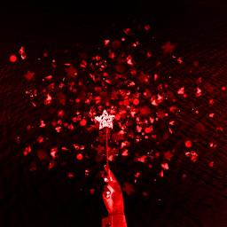 red sparkles wand freetoedit ircmakeawish makeawish