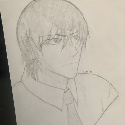 anime drawing doodle art traditionalart animeart sketch light lightyagami yagamilight deathnote