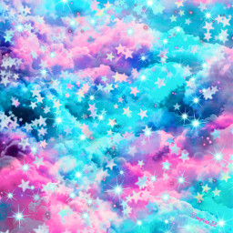 freetoedit glitter sparkle galaxy sky stars clouds pastel glow bling shimmer pink blue aesthetic dream magical cosmos overlay background wallpaper