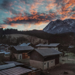 travel traveltheworld travelphotography nature photography sky pink mountain austria