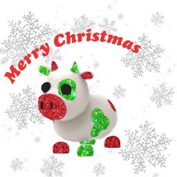adoptme adoptmepet christmas winter cute cow roblox freetoedit