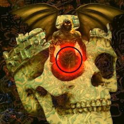3d digitalart fantasy darkart skullart fantasyart texture freetoedit
