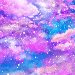 freetoedit glitter sparkle galaxy sky stars clouds purple shimmer cute aesthetic colorful art cosmos stardust pretty overlay background wallpaper