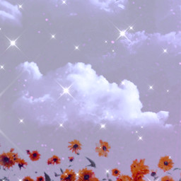 background backgrounds wallpaper sky clouds glow flowers freetoedit