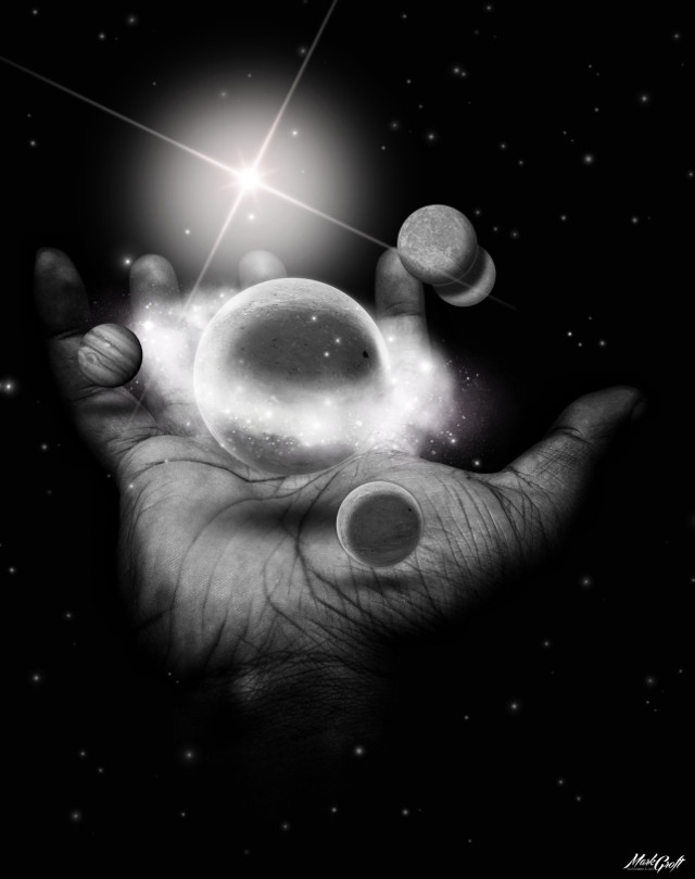 #galaxy #hand #light #glare #shadow #surreal #picsart #madewithpicsart #pa #stars #blackandwhite