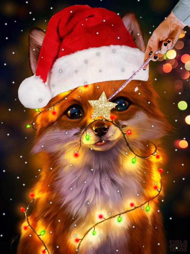 #christmas #fox #holidays #wand #winter #ihopeyoulikeit