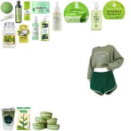 spa day green tea spaday greentea matcha freetoedit