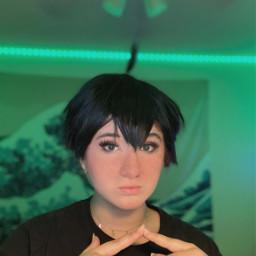 cosplay cosplayer cosplayphotography green haikyuu haikyuucosplay haikyuuyamaguchi yamaguchi yamaguchihaikyuu yamaguchicosplay freetoedit