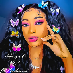 butterfly pigtails curls babyhair ponytails freetoedit