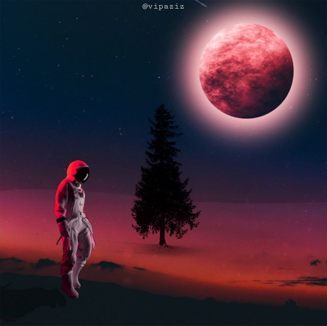 .    - - - - -  #red #moon #ice #snow #terra #sky #night #man #aesthetic #simple #perfect #planets #astronaut #astronautremix #tree #cristmas  .#marychristmas  #christmas #christmascard #christmastree #follow  #happytaeminday #nature #background #madewithpicsart