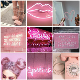aesthetic pink vibes barbie makeup freetoedit