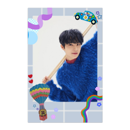 nct nct127 jungwoo nct2020 deco card 엔시티 엔시티127 포카 blue red rainbow stecker freetoedit