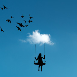 cloud clouds art challenge competition blue aesthetic aesthetics girl sky freetoedit ecintheclouds intheclouds
