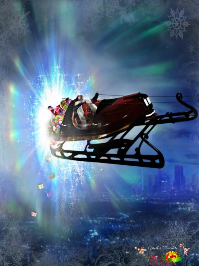 Merry Christmas 🎄 #Santa #christmas #sleigh #portal #fantasy #fantasyart #imagination