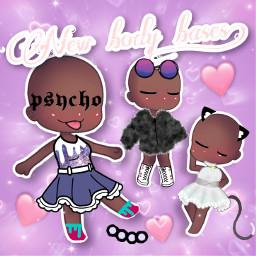 blackpeople gachalife pretty cool girl freetoedit