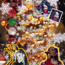 arianagrande christmas christmasspirit redgreenwhite freetoedit