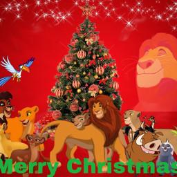merrychristmas christmas thelionking lionking simba nala kiara kion bunga timon timonandpumbaa lion honeybadger rafiki makini mandrill vitani kovu zazu hornbill lions rani sarabi mufasa disney freetoedit
