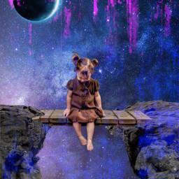 freetoedit art arteveryday picsart artist madewithpicsart magical galaxy girl cuteness