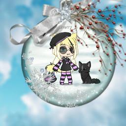 christmas december gachalife freetoedit