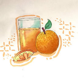 oranges juice drawing aesthetic slice yum