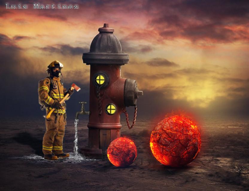 #surreal #surrealism #surrealismo #fire #fireball #catalisys #edited #photoshop #digitalart #composition #fantasy #madewithpicsart