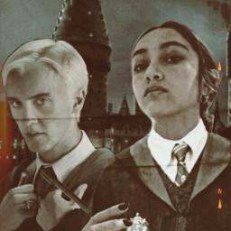 hogwarts dracomalfoy tomfelton harrystyles slytherin freetoedit