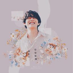 bts taehyung kimtaehyung v kpop btsv flower happyvday freetoedit