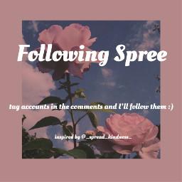 followingspree freetoedit
