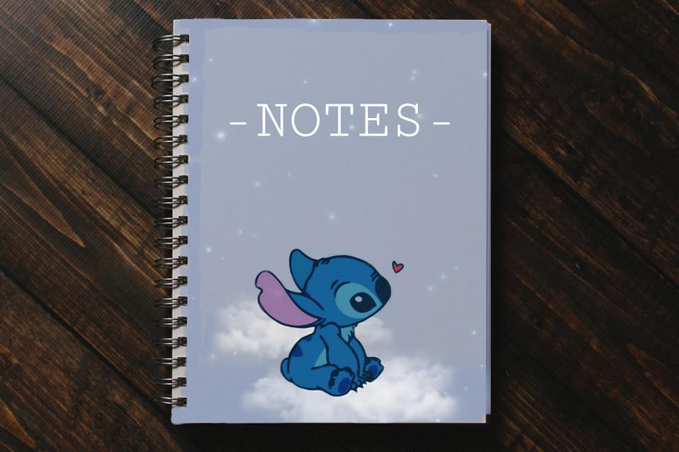 ♡︎ #picsartchallenge #notebook #stitch #cute #notes #cutenotebook