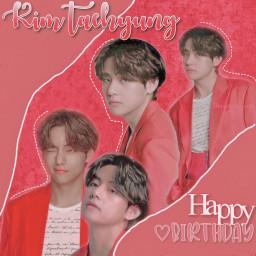 kimtaehyung v btsv red happybirthday