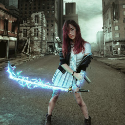 art picart fight animestyle photography surreal digitalart