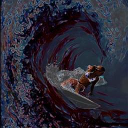 surfing ocean sexygirls picast picsartedit picsarteffects art artwork artistic wave neon neoneffect cooledits cooleffects freetoedit