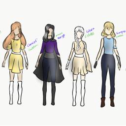 digitalart art drawing digitaldrawing girls oc group zodiac zodiacsign ocgirl girloc superhero design clothes clothing fashion